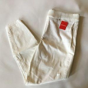 Spanx White Distressed Skinny Jean X-Large NWT